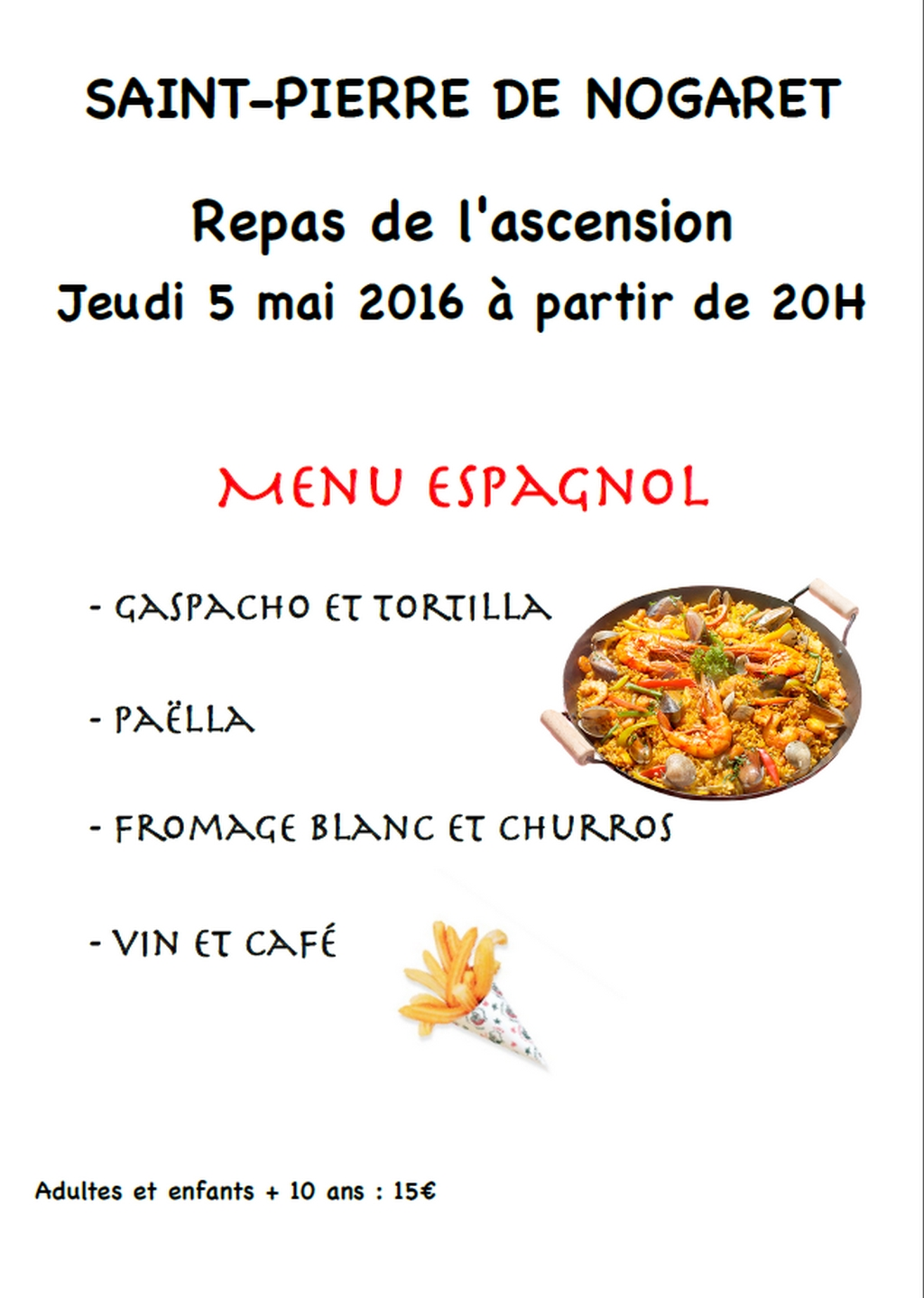 REPAS DE L'ASCENSION A SAINT PIERRE DE NOGARET
