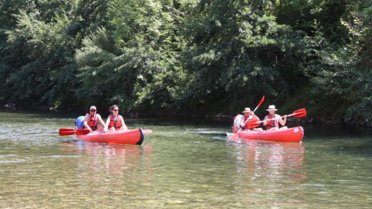 Location de canoës au Camping Couderc