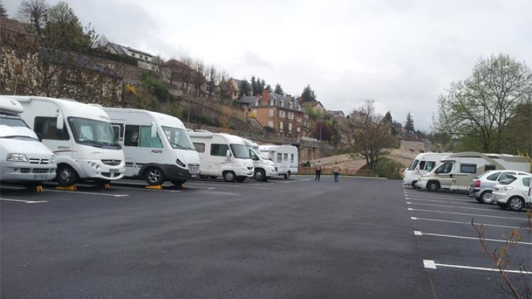 aire camping car mende, faubourg montbel