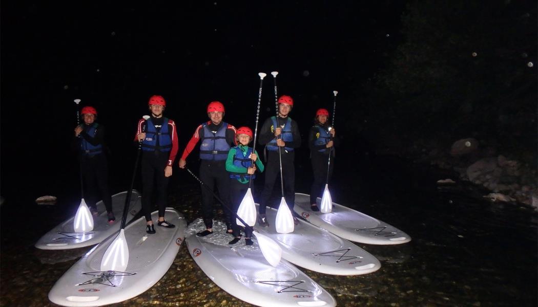 Descente en paddle de nuit