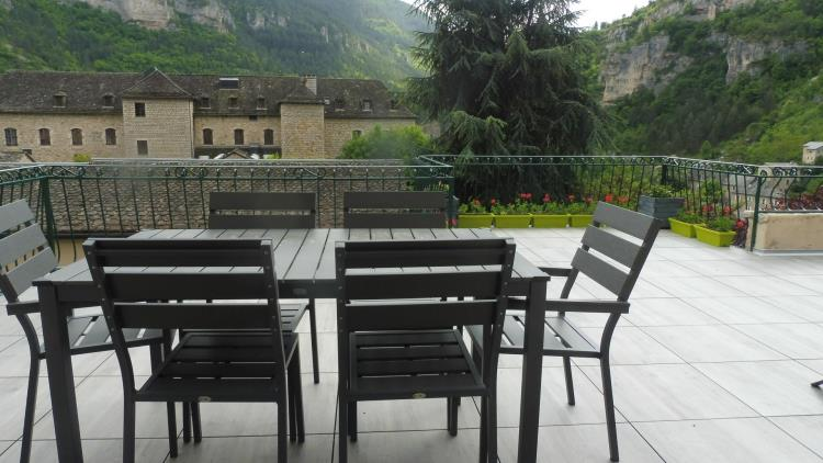 Terrasse panoramique de l'appartement Le Vignot