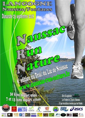 Naussac Run nature affiche 23-09-18