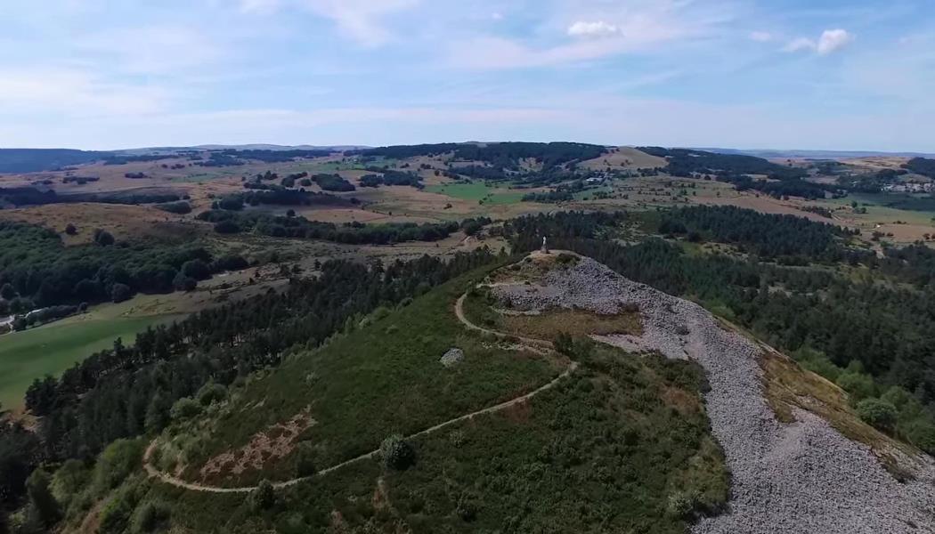 Pic de Mus_vue aérienne